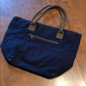 Navy and Brown American Eagle Purse